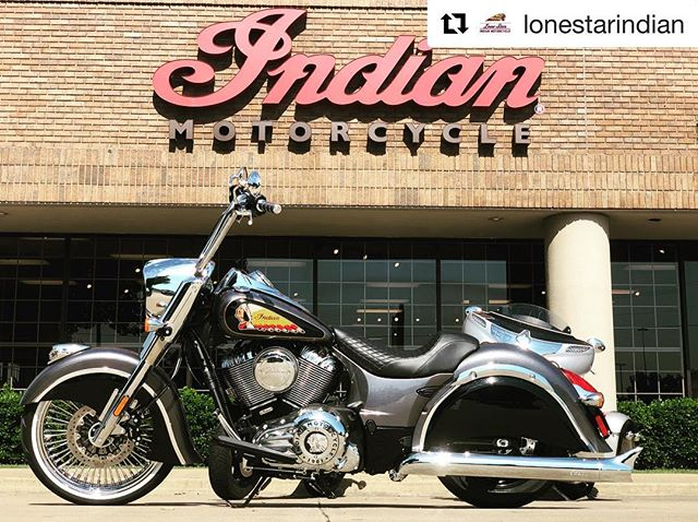 "#Repost @lonestarindian ・・・ Welcome to Lone Star Indian...home of this beautiful custom Chief Classic.  16"" apes, custom paint courtesy of @othersidegary , Stage 1 Indian Exhaust with fishtail tips, Dirty Bird seat, and a 21"" fat spoke wheel from @ridewrightwheels with a white wall tire. Come check this bad boy out!  #bigwheelindian #chiefclassic #custombuild #ridewrightwheels #othersidecustoms #lonestarindianmotorcycle #indianmotorcycles #cholobike #bikelife"