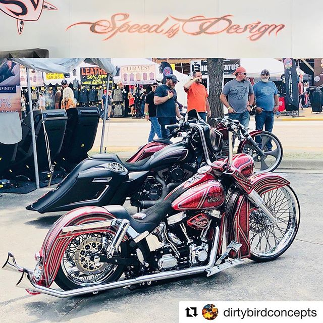 #Repost @dirtybirdconcepts ・・・ Come by speed by designs booth on lazelle and 2nd across from the knuckle saloon checkout his bikes and my dirtytail #sturgis