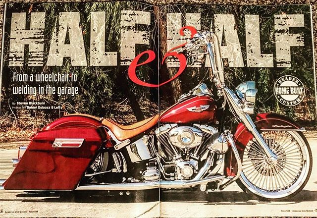 #Repost @s.w.blackburn ・・・ My story about this 2008 Softail Deluxe built by Danny Dobosz (@dboy1k) is in issue 518 of @americanirongarage. For the first half of the build, Danny built this Softail from a wheelchair... with some help. Once he was back on two feet, Danny finished it up on his own. 📷: Lefty 🛠: @samsonexhaust headers, @ridewrightwheels Exotica 21-incher, @metzelermotousa tires, @carlini_design Gangster Apes and risers, BIG TIME Baggers & Vias swingarm and license bracket, and more #harleydavidson #harley #softail #softaildeluxe #softails #bagger #vicla #21inches #baggers #baggernation #bigwheelbagger #motorcycle #motorcycles #biker #bikers #diy #doityourself #custom