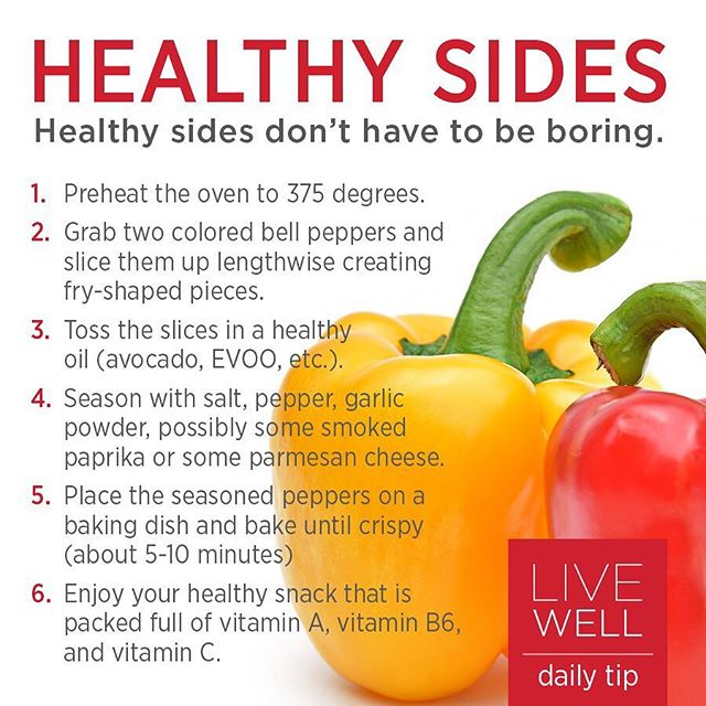 Healthy eating can be fun and delicious. We all crave #frenchfries once in a while, and finding replacements for that can be difficult. These bell pepper fries are absolutely delicious and entirely nutritious. We highly recommend you try them out! #livewell