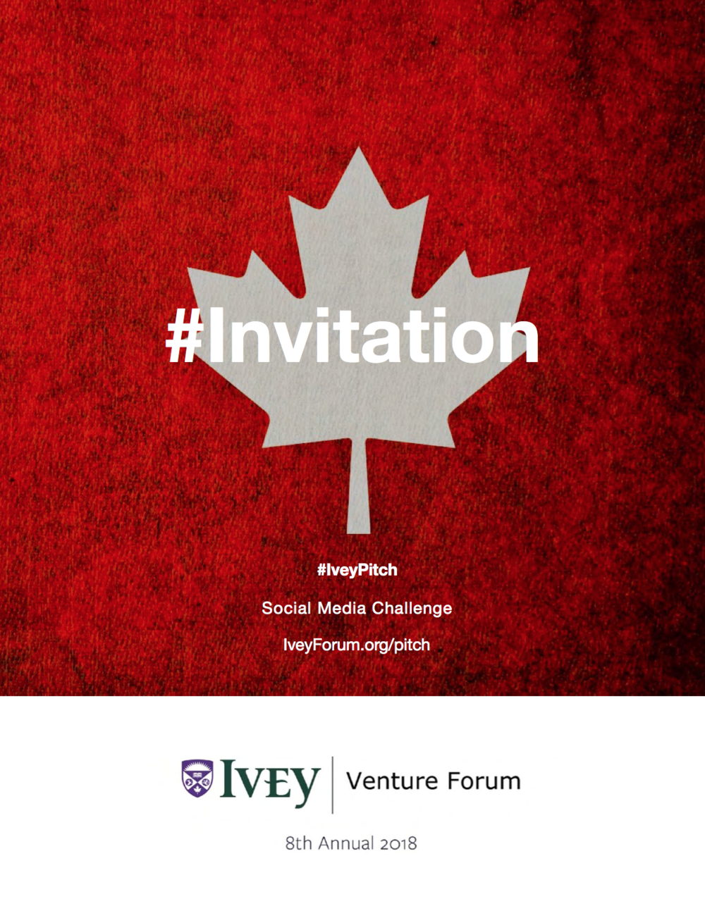 Invitation to #IveyPitch