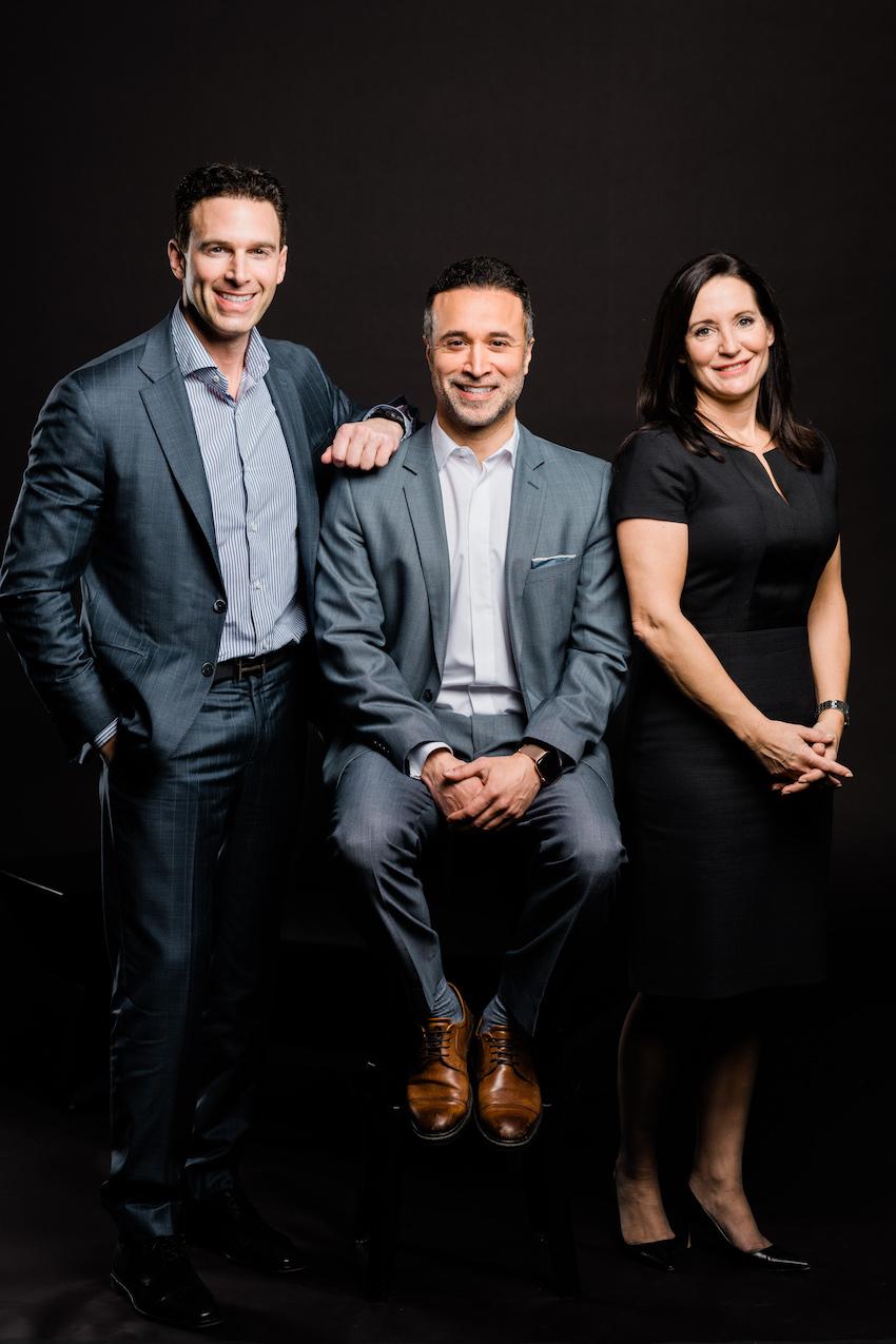 Anthony Lacavera, Claudio Rojas, and Amanda Lang at Canadian Dream Summit 2019