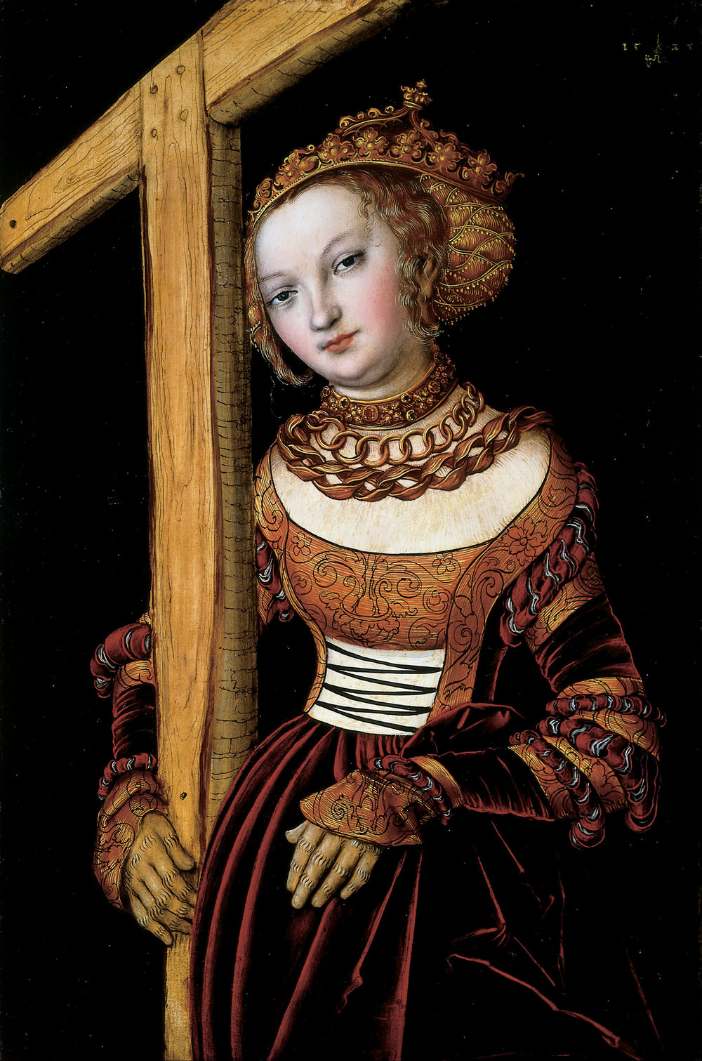 St. Helena with the True Cross , by Lucas Cranach the Elder