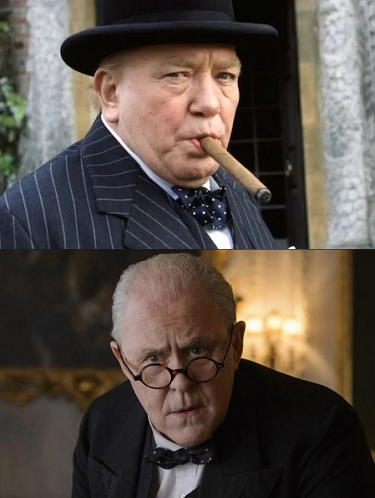 Albert Finney in  The Gathering Storm  and John Lithgow in  The Crown .