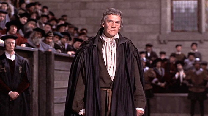 Paul Scofield as Sir Thomas More on trial