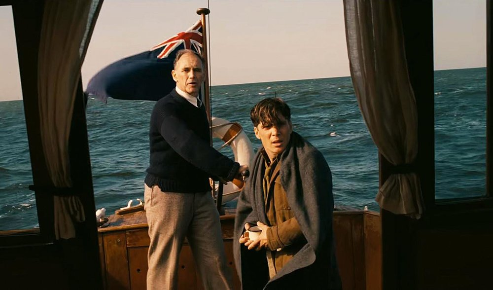Mark Rylance and Cillian Murphy in  Dunkirk