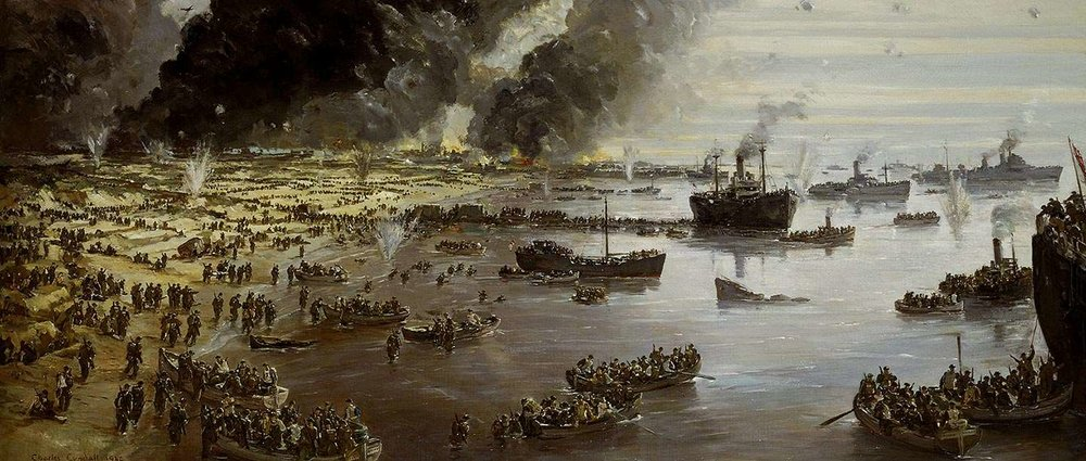 The Withdrawal from Dunkirk, June 1940 , by Charles Ernest Cundall