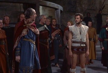 Tony Curtis's gams, front and center for an unfortunate amount of screentime