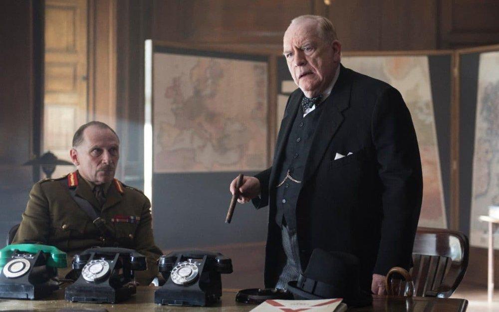 Brian Cox as Churchill and Danny Webb as Field Marshal Alan Brooke in  Churchill