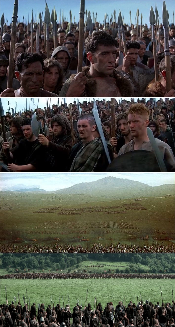 Spartacus  and  Braveheart , father and son epics