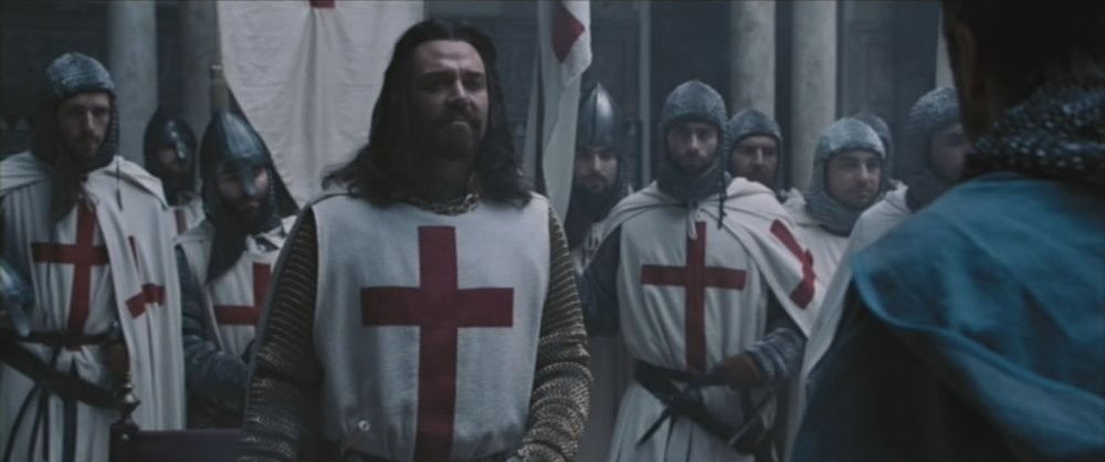 Marton Csokas as Guy of Lusignan, inaccurately depicted as a Knight Templar in  Kingdom of Heaven