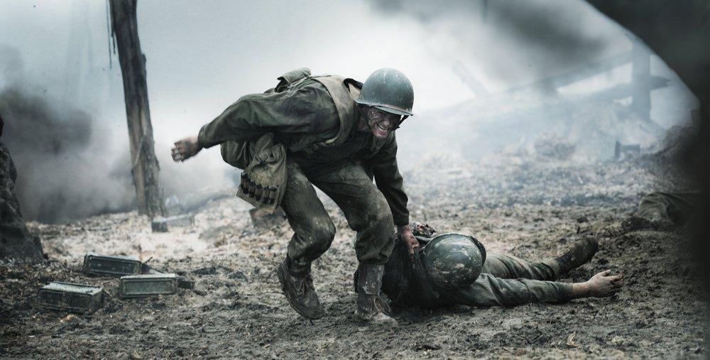 Andrew Garfield as Desmond Doss in  Hacksaw Ridge