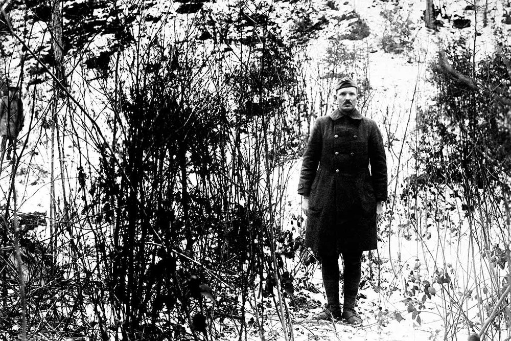 SGT. Alvin york revisiting the site of his actions following the armistice, november 1918