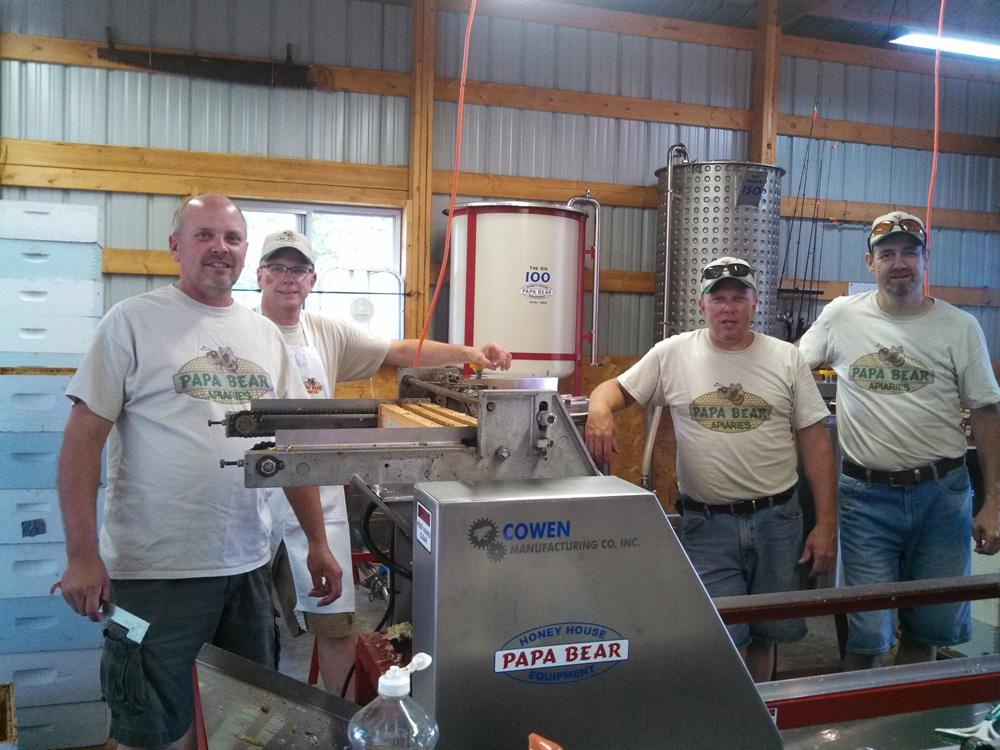 Papa Bear Honey Team: left to right - Jeff Lueck, Dale Lueck, Ken Lueck, Tim Hoeft.