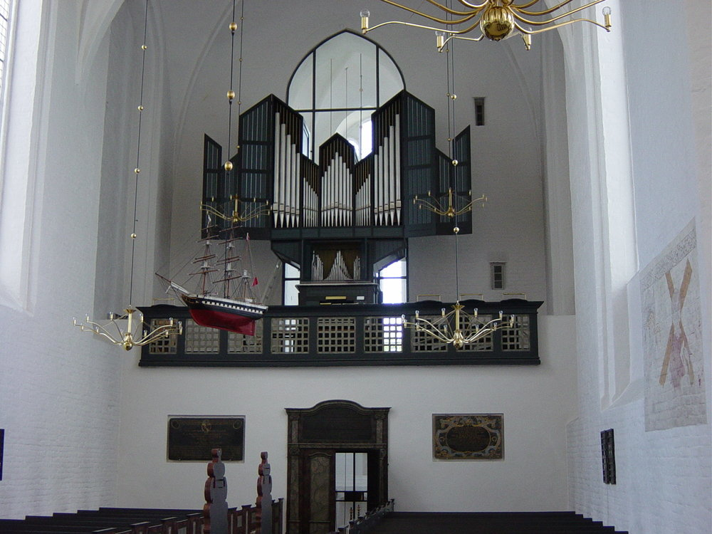 The old organ, Mariager, Denmark