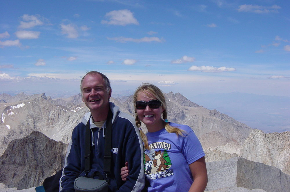 With daughter, Hannah, at the top of Mt. Whitney