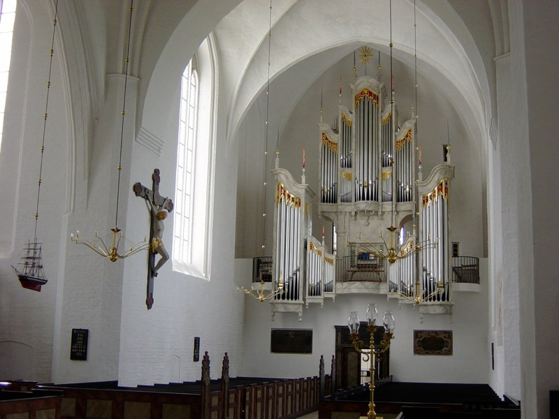 The new organ, Mariager, Denmark