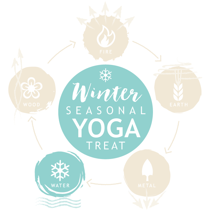 Seasonal yoga retreat winter