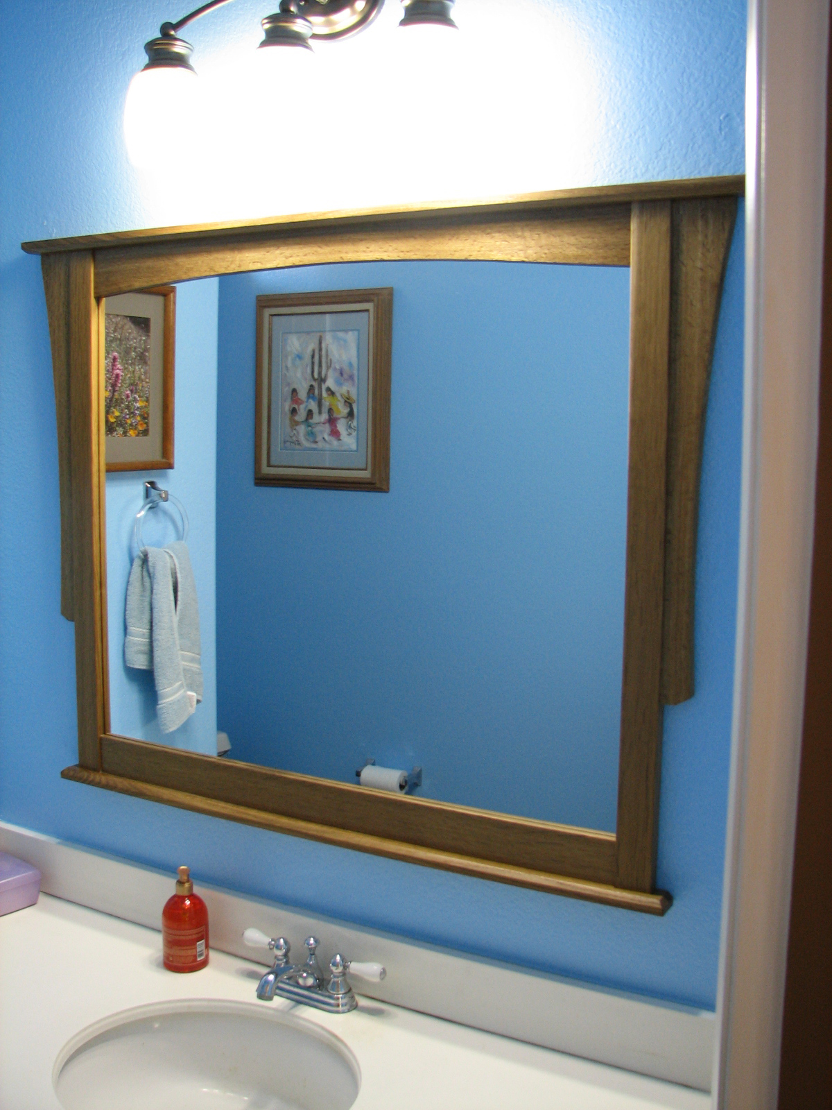 Bathroom Mirror Tincup Woodworks