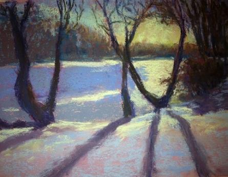 Shimmering Snow  Pastel