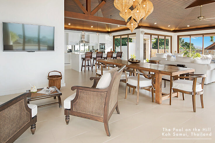 Koh Samui Vacation Rental with Infinity Pool: Discover the many entertainment options available to you at this 5-bedroom Koh Samui vacation rental with ocean views