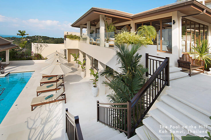 Koh Samui Family Pool Villa – Your FAQs:  The Pool on the Hill 's suitability as a villa for your family will depend on your children's ages and your level of comfort having them around stairs, water access and delicate furnishings.