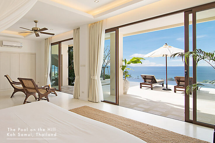 Pool Villa for Families in Koh Samui – Your FAQs: All five villa bedrooms at  The Pool on the Hill  offer your family the choice of air-conditioning and ceiling fan, and also include ocean views.