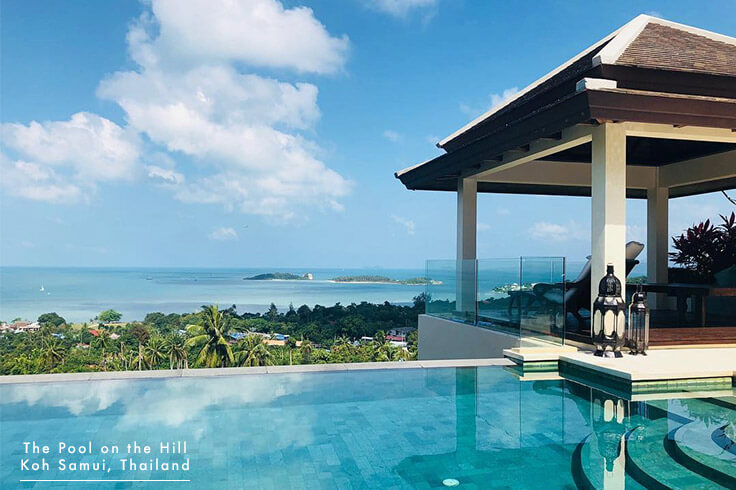 Koh Samui Pool Villa for Families in Choeng Mon – Your FAQs:  The Pool on the Hill 's infinity pool has a shallow end with wide steps and is 1.7 metres (5.5 feet) at the deep end.