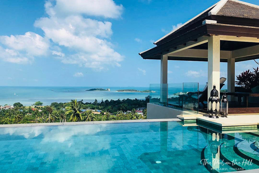 Koh Samui infinity pool: The Pool on the Hill's freshwater infinity pool has beautiful ocean views and is totally chlorine-free