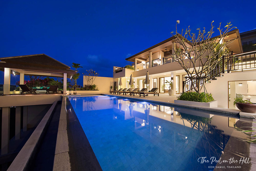 Pool villa in Koh Samui: The Pool on the Hill's private infinity pool has ocean views and beautiful sunsets