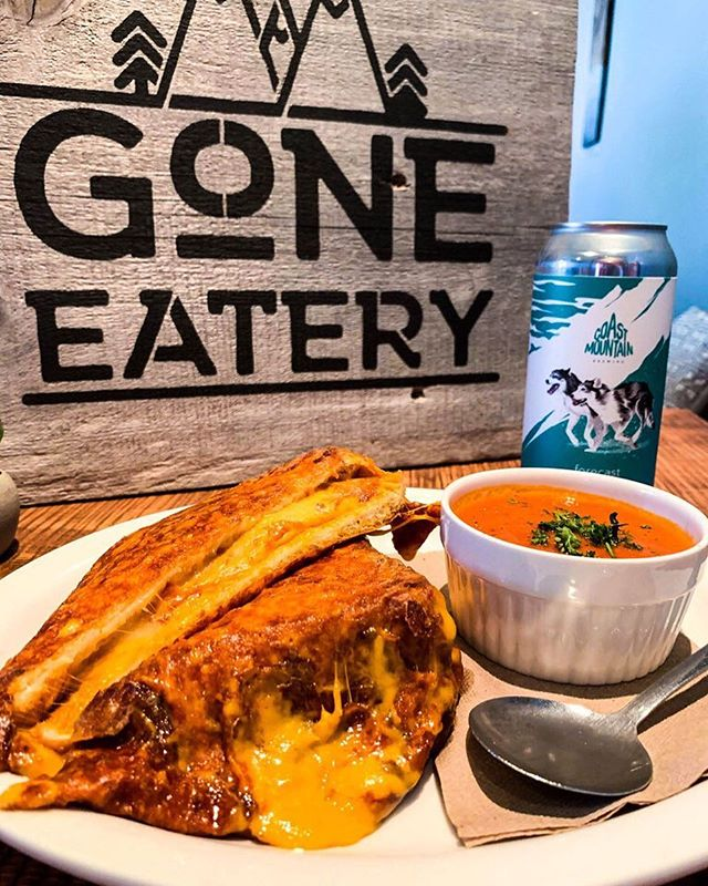 Come celebrate International Grilled Cheese Day tomorrow April 12th with us at Gone! 😃Great specials on our famous Grilled Cheese and a yummy Coast Mountain Brewing beer! 👌  #goneeatry #grilledcheeseday  #whistler
