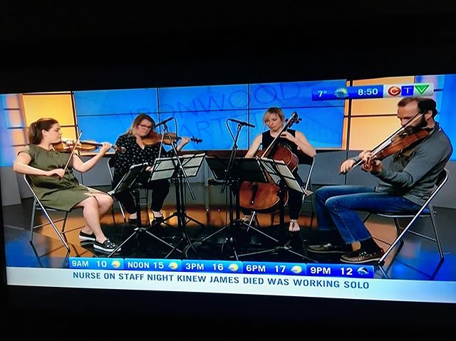 Played on @ctvsaskatoon this morning!  Our @ritornellofest show is tonight at @villageguitars 8:30pm.