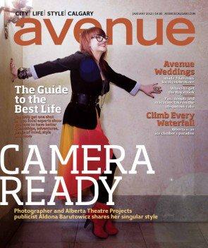 Aldona B's Avenue Magazine Cover.