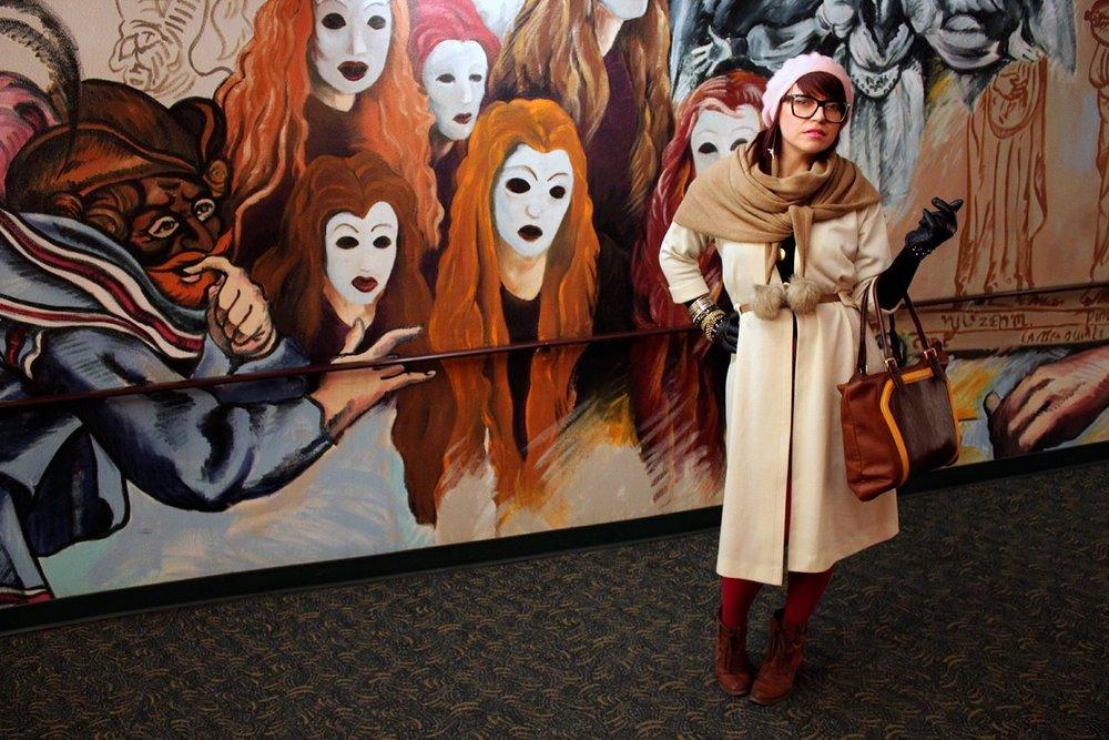 Aldona B and the arts.