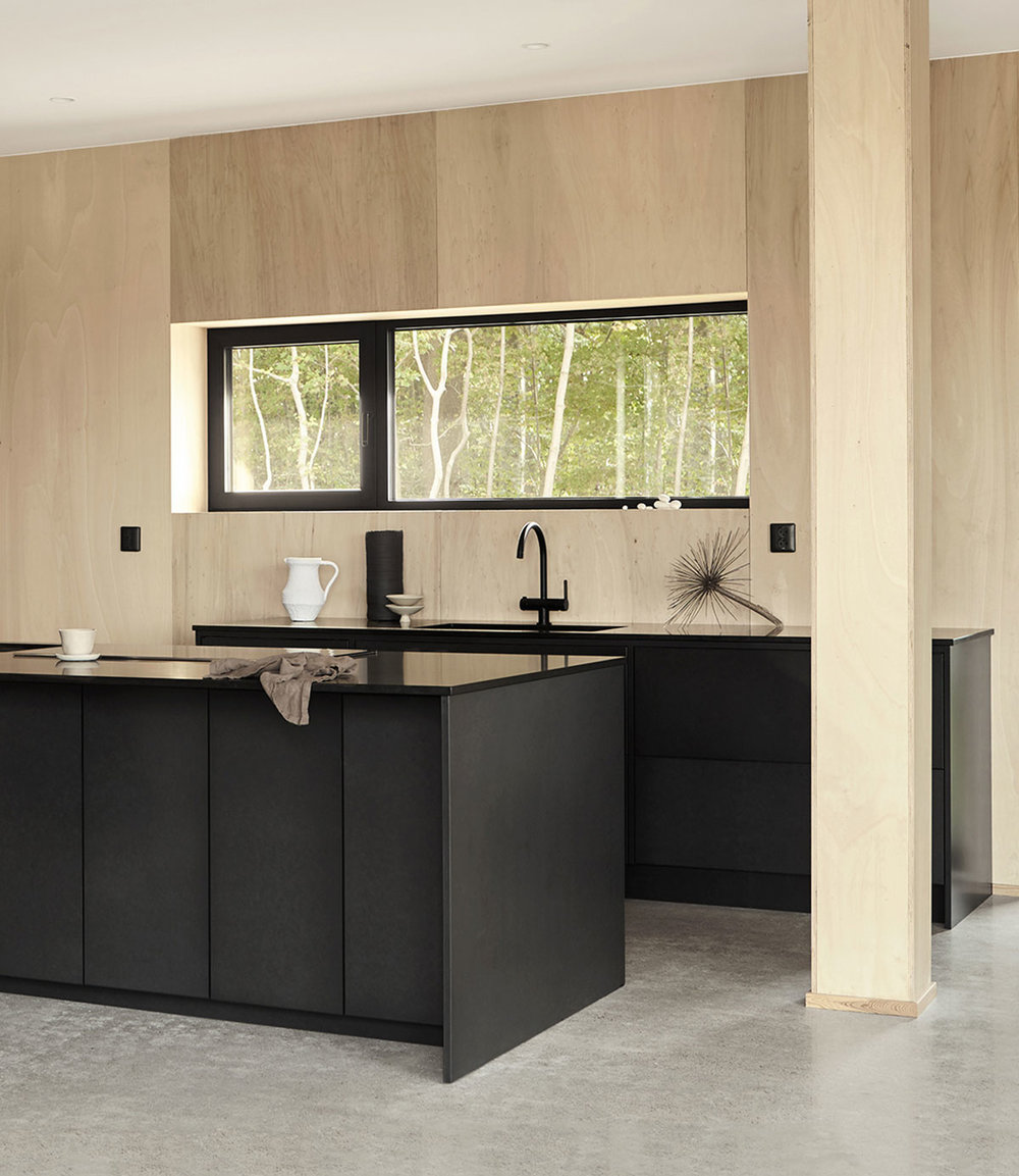 Bespoke black architect kitchen design and kitchen island