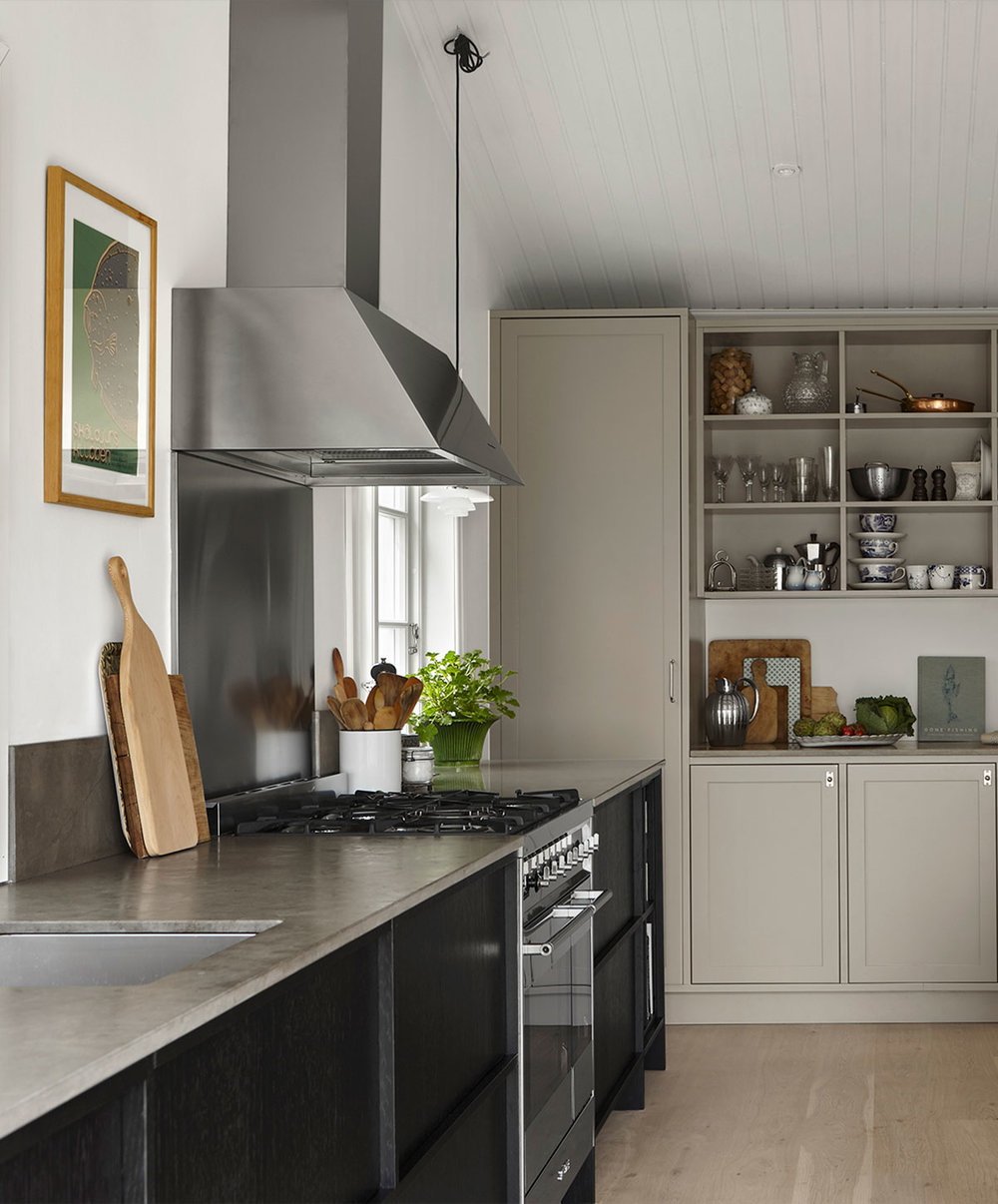 Johanna Bradford kitchen, blog inspiration about the grey kitchen