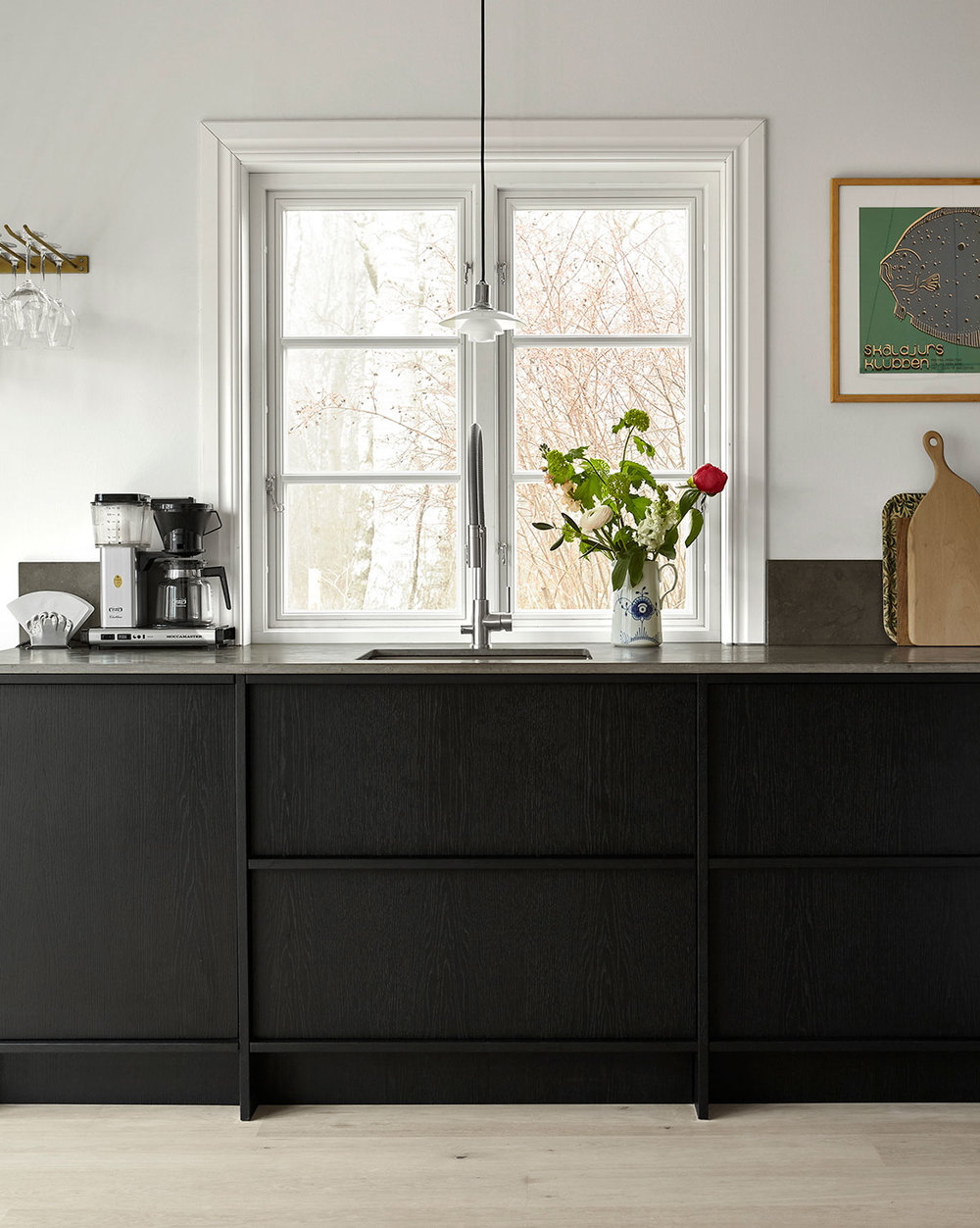 Johanna Bradford kitchen, black oak kitchen inspiration