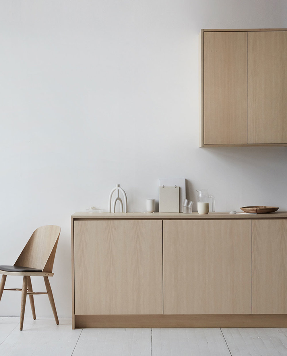 Wooden kitchen inspiration, Scandinavian design ash kitchen