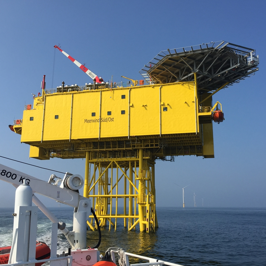 Windpark Meerwind Süd/Ost - OSS Substation Nordsee