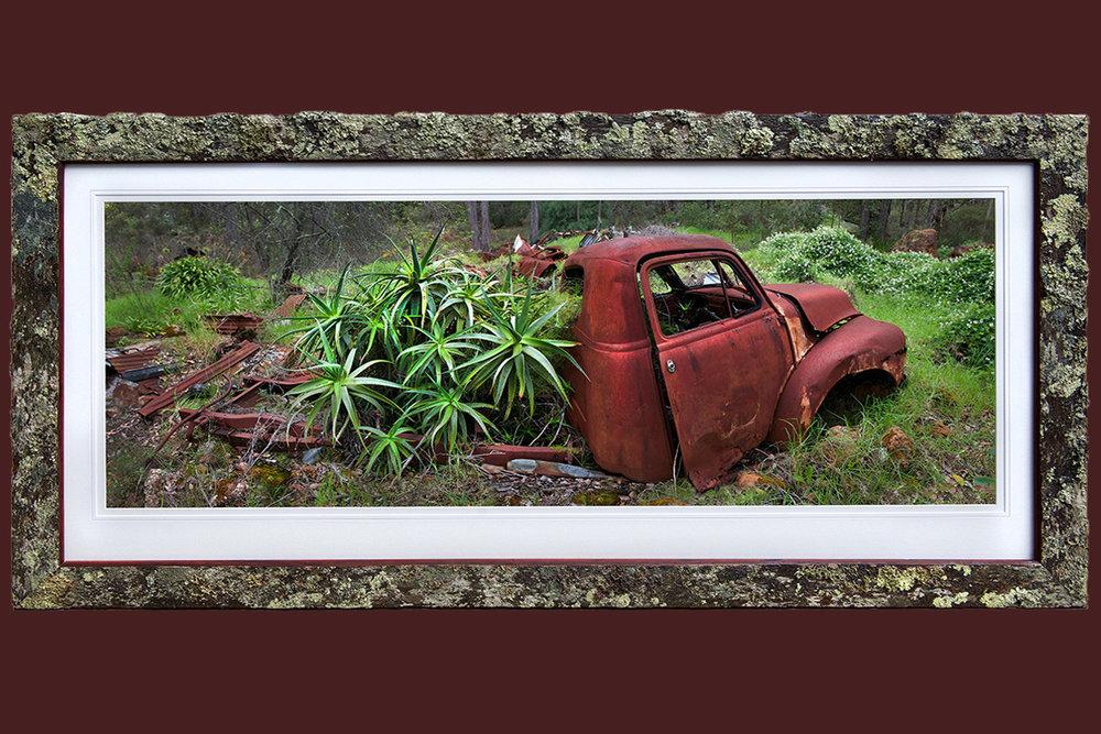 Annie-Bowerman-Al-Purdon-Out-Of-Fuel-Print-in-Lichen-Covered-Jarrah-1200mmx600mm.jpg
