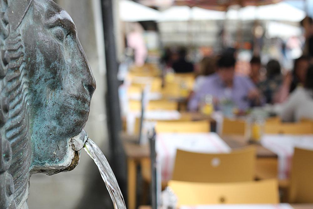 Luzern isst - Brunnen in Luzern