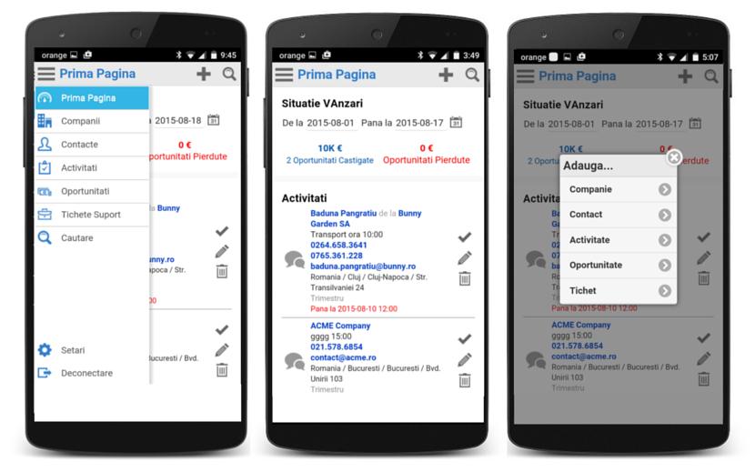 Aplicatia mobila CRM