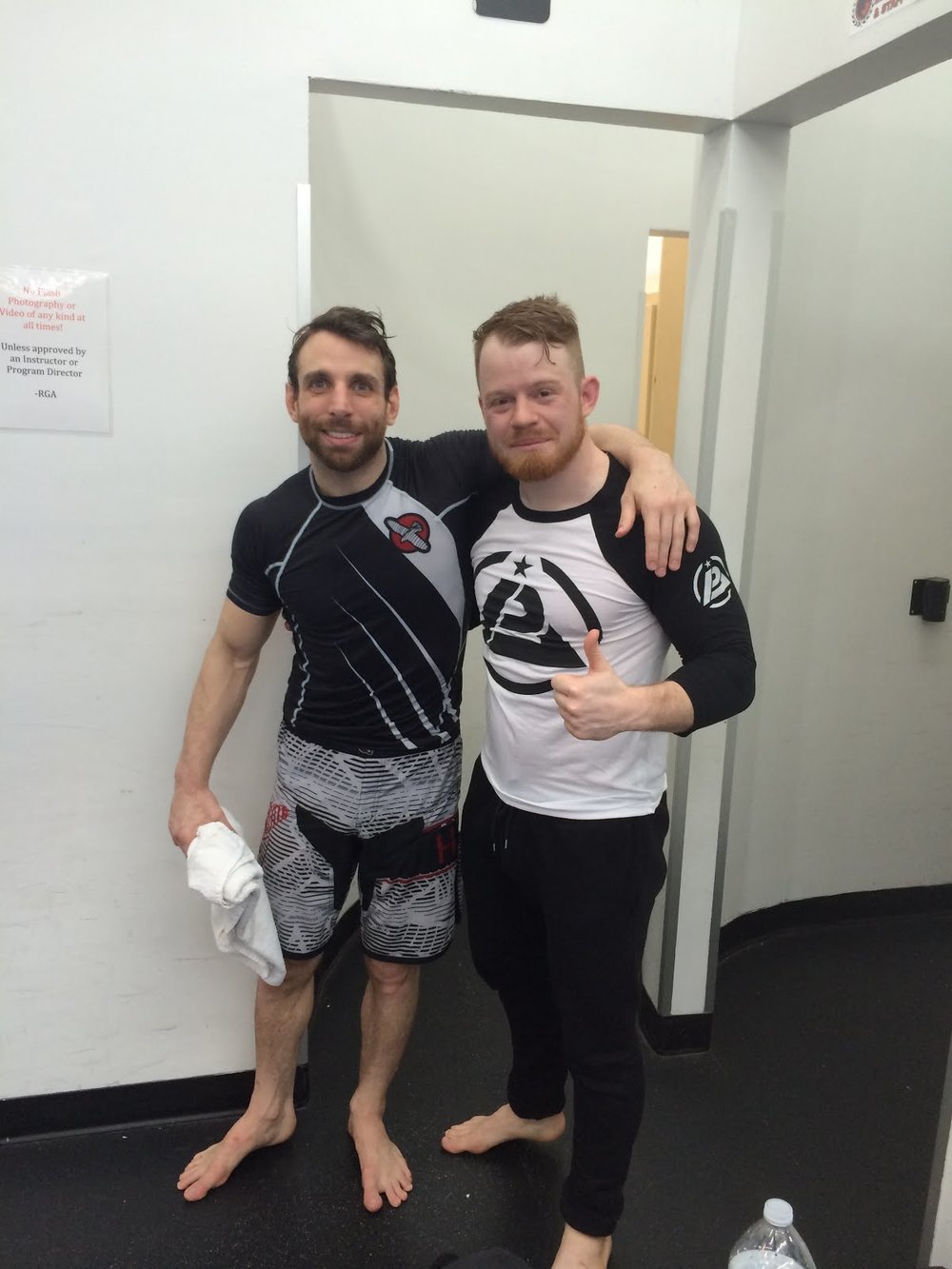 Eddie Cummings and me, my knees still hurt :) -