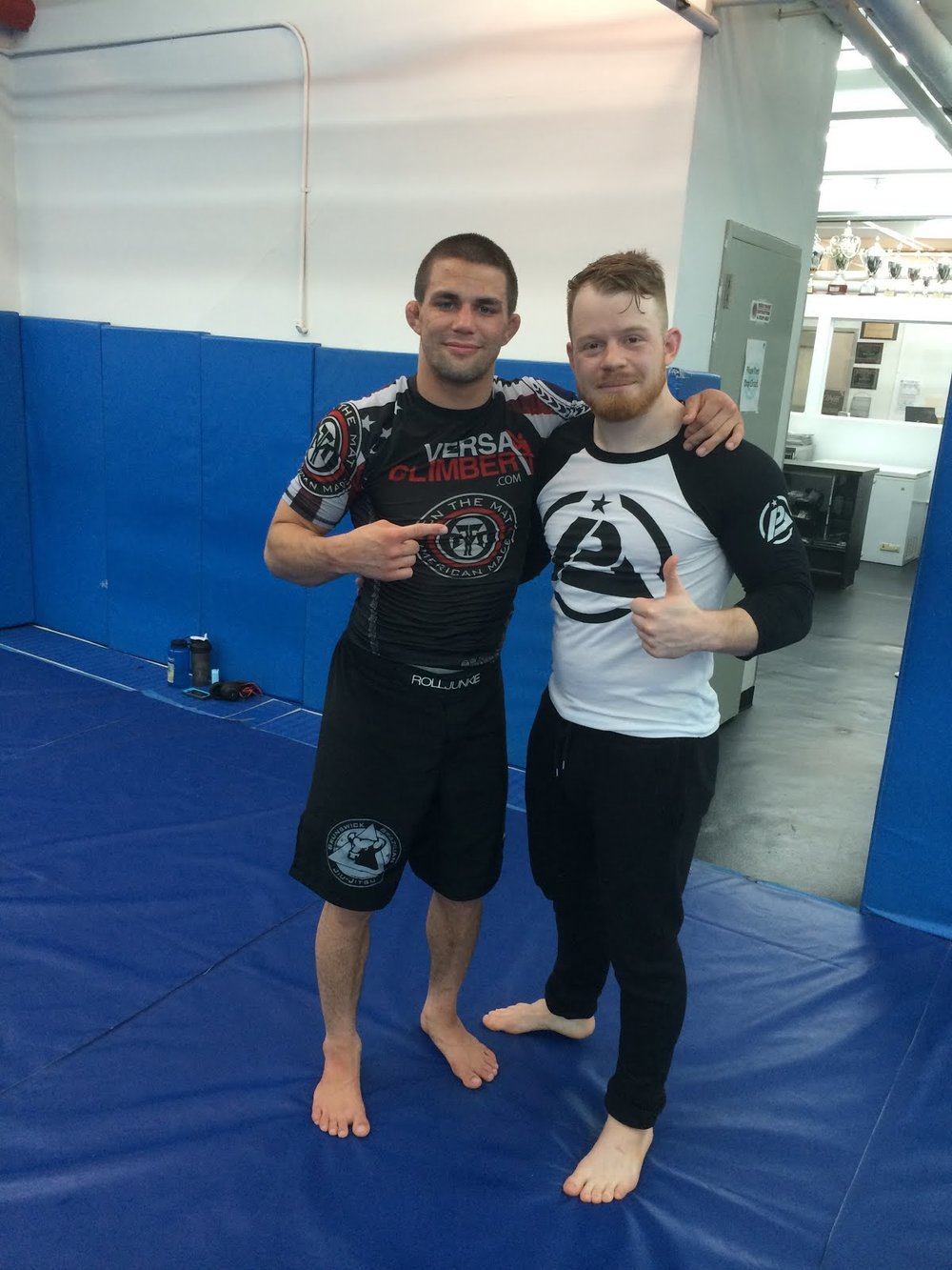 The Worlds best submission grappler Garry Tonon and me after our roll.  -
