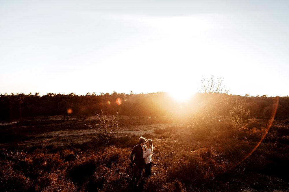Franzi und Alex bei einem Paar Shooting in der Wahner Heide.