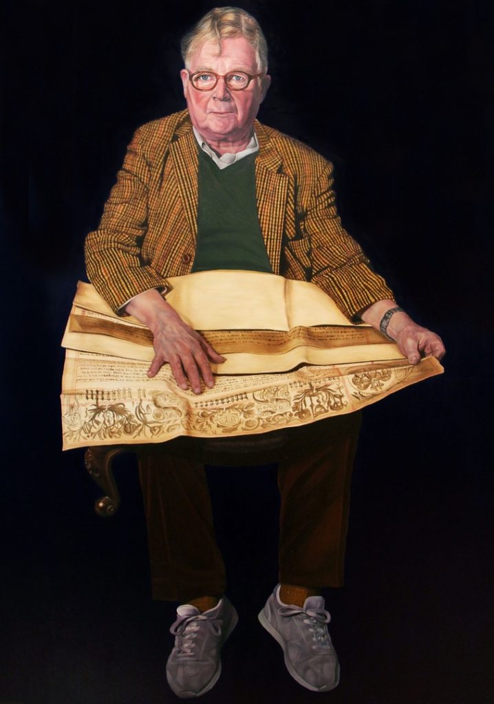 'Here I Am : John' by Caroline Pool. Oil on canvas, 30in x 40in