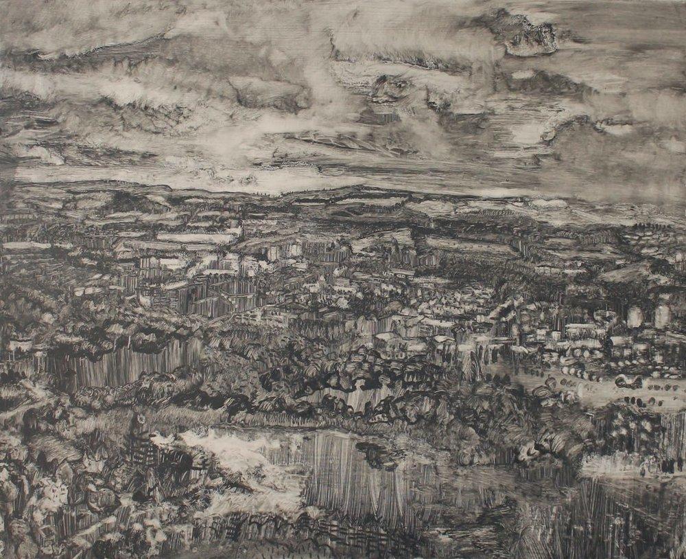 From Holyrood Park  Catharine Davison Oil on Board, 50 x 60 cm