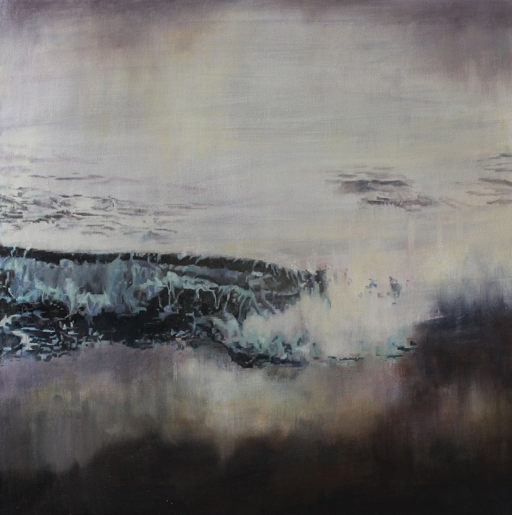Autumn Rain  Nerine Tassie  Mixed media, 50cm x 50cm, 2016