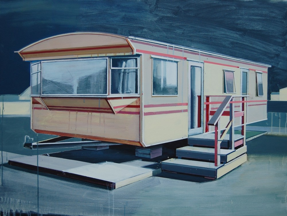 'Yellow Caravan' by Paul Crook Acrylic on Canvas 125 x 95cm 2015 VIEW ARTIST INTERVIEW