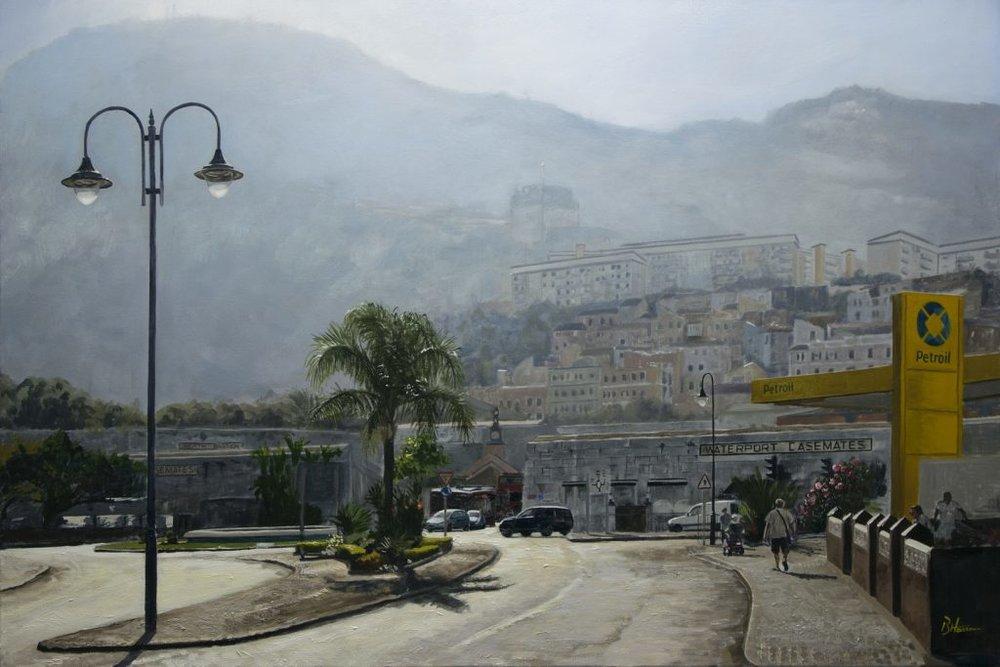 Misty Mountain Oil on canvas 60cm x 90cm  Benjamin Hassan